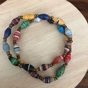 31 Bits set of 2 bracelets